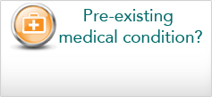 Cover for pre-existing medical conditions